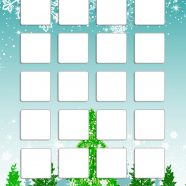 Shelf winter snow tree blue green cute girls and woman for iPhone8 Wallpaper