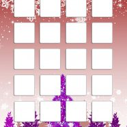 Shelf winter snow tree red purple cute girls and woman for iPhone8 Wallpaper