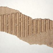 Torn cardboard white brown iPhone8 Wallpaper