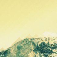 Landscape snow mountain yellow iPhone8 Wallpaper