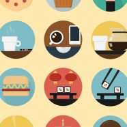 Illustrations food yellow colorful for women iPhone8 Wallpaper