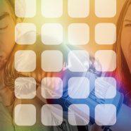 Chara Globe colorful shelf iPhone8 Wallpaper