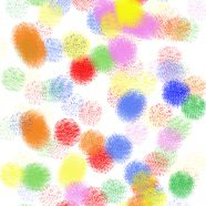 Illustrations pattern colorful dots iPhone8 Wallpaper
