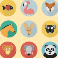 Illustration animal yellow colorful for women iPhone8 Wallpaper