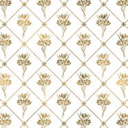Illustrations pattern gold plant flowers iPhone8 Wallpaper