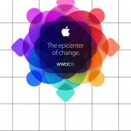 Apple logo colorful WWDC15 shelf borders iPhone8 Wallpaper