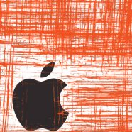 Apple logo red Cool iPhone8 Wallpaper