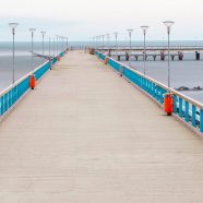 Landscape sea Bridge iPhone8 Wallpaper