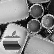 Apple logo monochrome cool iPhone8 Wallpaper