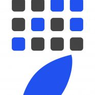 Apple logo shelf black-and-white blue iPhone8 Wallpaper