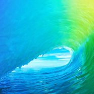 Landscape iOS9 colorful wave iPhone8 Wallpaper