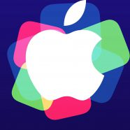 Apple logo event purple colorful iPhone8 Wallpaper