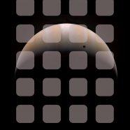 Space planet brown shelf iPhone8 Wallpaper