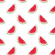 Pattern illustration fruit watermelon red women-friendly iPhone8 Wallpaper