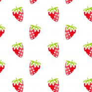Pattern illustration fruit strawberry red women-friendly iPhone8 Wallpaper