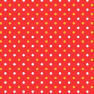 Pattern polka dot red women-friendly iPhone8 Wallpaper