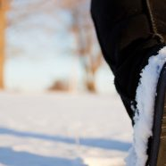 Landscape snow white shoes iPhone8 Wallpaper