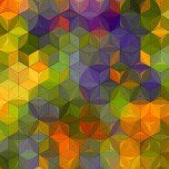 Pattern green yellow iPhone8 Wallpaper