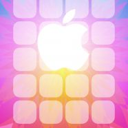 Apple logo pattern colorful shelf iPhone8 Wallpaper