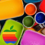 Apple logo colorful cool iPhone8 Wallpaper