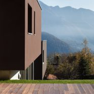 Landscape brown house terrace green iPhone8 Wallpaper