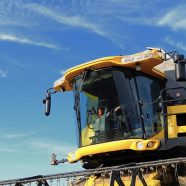 Agricultural tractor yellow iPhone8 Wallpaper