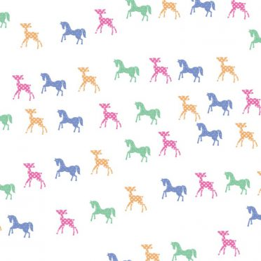 Horses deer colorful iPhone8 Wallpaper