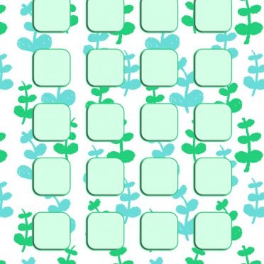 Pattern illustration green girls and woman for shelf iPhone8 Wallpaper