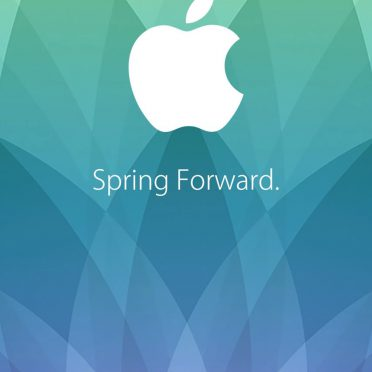 Apple logo spring event 2015 green blue purple Spring Forward. iPhone8 Wallpaper