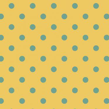 Pattern polka dot yellow iPhone8 Wallpaper