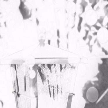 Lantern black and white iPhone8 Wallpaper
