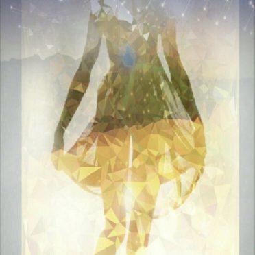 Women silhouette iPhone8 Wallpaper