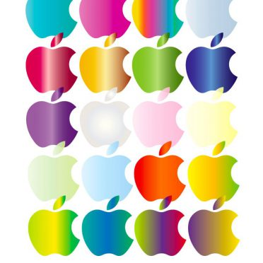 Shelf apple colorful iPhone8 Wallpaper