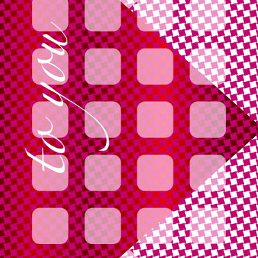 Illustration pattern letter  red  shelf iPhone8 Wallpaper