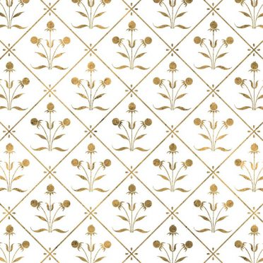 Illustrations pattern gold plant iPhone8 Wallpaper