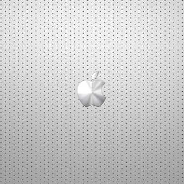Cool silver Apple logo iPhone8 Wallpaper