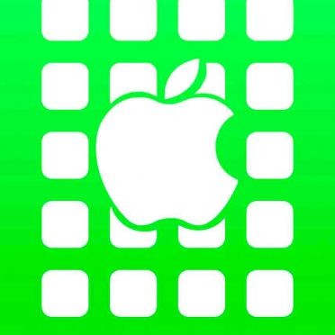 Apple logo  shelf  green iPhone8 Wallpaper