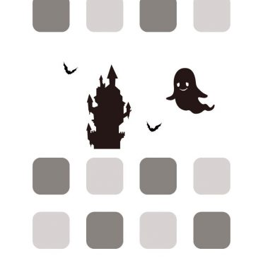 Monochrome black ash shelf Halloween iPhone8 Wallpaper