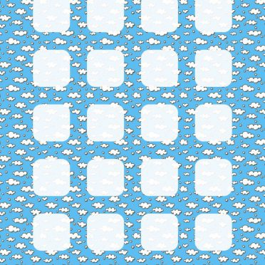 Pattern illustration blue water shelf iPhone8 Wallpaper