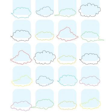 Shelf simple  cloud  blue  colorful iPhone8 Wallpaper