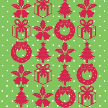 Shelf Christmas green red gift iPhone8 Wallpaper