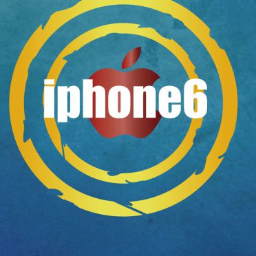 iPhone6 Apple logo blue iPhone8 Wallpaper