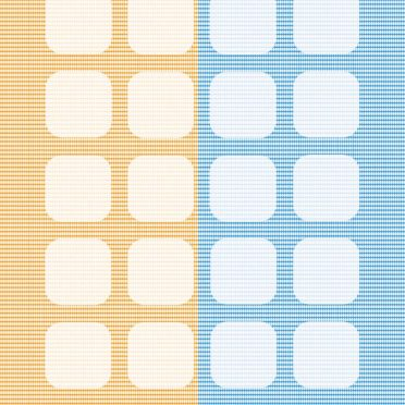 Pattern orange yellow blue shelf iPhone8 Wallpaper