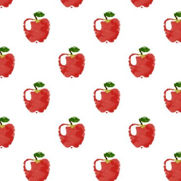 Pattern illustration fruit apple red women-friendly iPhone8 Wallpaper