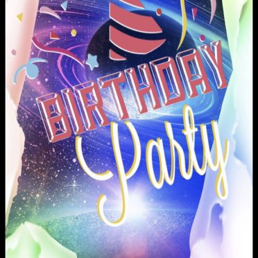 Birthday party planet iPhone8 Wallpaper