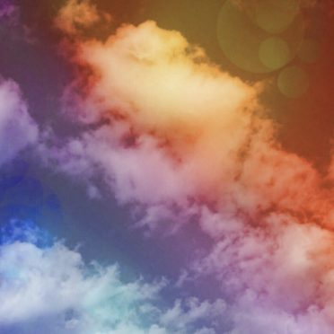 Clouds Rainbow iPhone8 Wallpaper