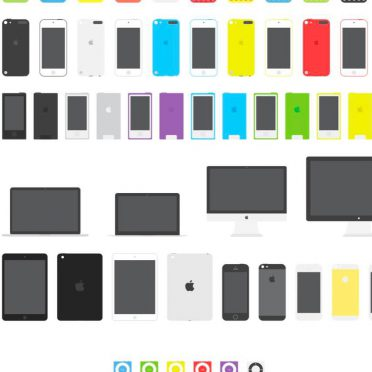 AppleMaciPod colorful iPhone8 Wallpaper