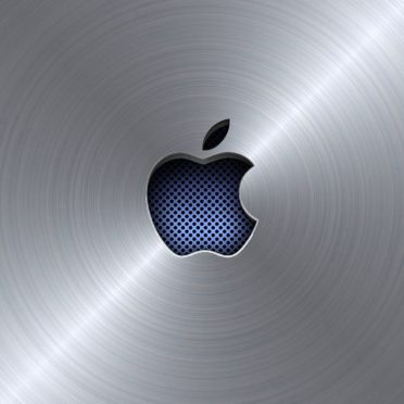 Apple logo cool blue silver iPhone8 Wallpaper