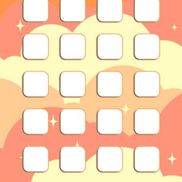 Pattern  orange  pink  Ki shelf  for girls iPhone8 Wallpaper