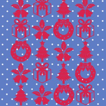 Shelf Christmas blue red gift iPhone8 Wallpaper